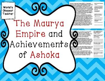 Maurya Empire and Achievements of Ashoka