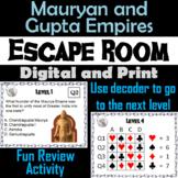 Mauryan & Gupta Empires Activity Escape Room (Ancient India Unit)