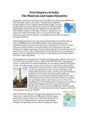 Mauryan vs. Gupta Dynasties - Reading and GRAPES chart organizer