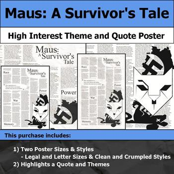 Maus - A Survivor's Tale - Visual Theme and Quote Poster for Bulletin Boards
