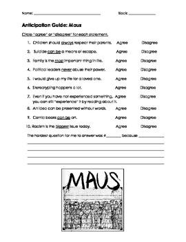 Maus Anticipation Guide