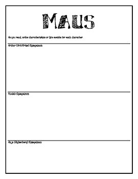 Maus Character Study Guide