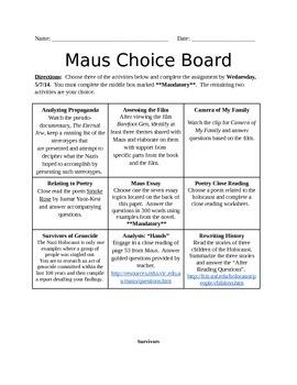 Maus Choiceboard