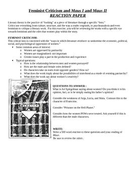 Art Spiegelman's Maus - Feminist Criticism Reaction Paper Assignment and Rubric