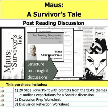 Maus I - A Survivor's Tale - Socratic Method - Post Reading Discussions