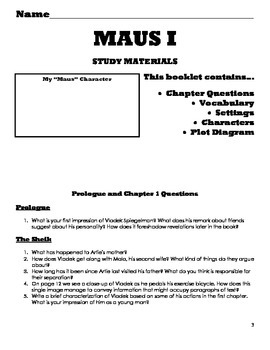 Maus I and II Unit Plan Materials