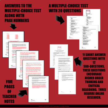 Maus I (test; essay questions; detailed answer key; teacher notes)