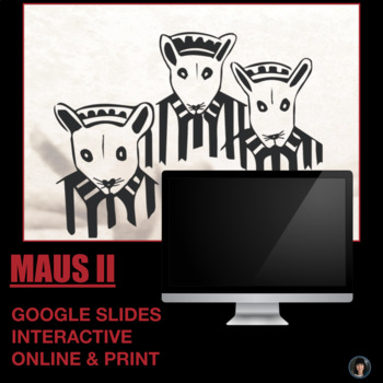 Maus II (test; essay questions; detailed answer key; teacher notes)