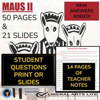 Maus II (test; essay questions; detailed answer key; teach