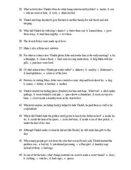 Maus Reading Check Test/Quiz