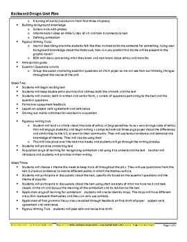 Maus Unit Plan