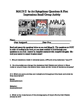 MausII by Art Speigleman Discussion Questions