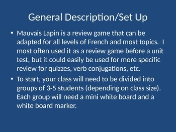 Mauvais Lapin - A review game