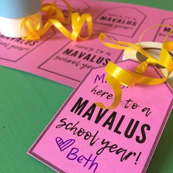 Mavalus Gift Tag for Teacher