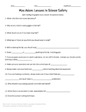 Max Axiom: Science Safety Worksheet & Answers