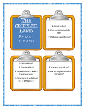 Max Lucado THE CRIPPLED LAMB - Discussion Cards