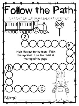 Max Takes the Train, Kindergarten, Centers for all ability levels