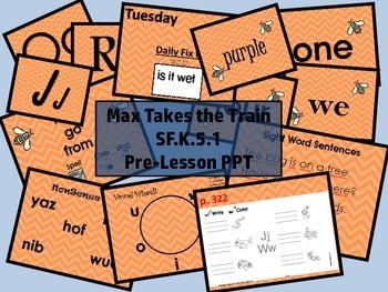 Max Takes the Train SF.K.5.1 Pre-Lesson PPT