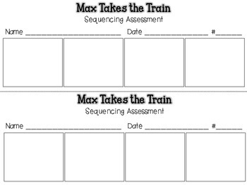 Max Takes the Train {Sequencing Assessment} Reading Street 5.1
