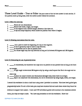 Max Teaching Geometry Three Level Guide