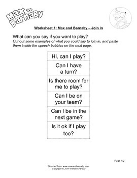 Max and Barnaby: Join In - Lesson Plan