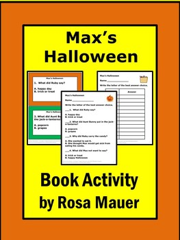 Max's Halloween Literacy Activity