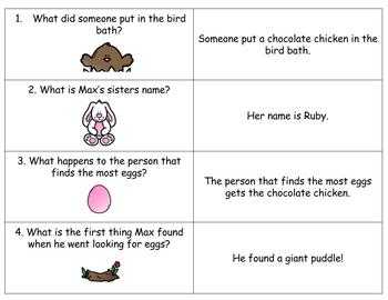 Max's Chocolate Chicken, Easter Activities: Book Study, Comprehension Centers