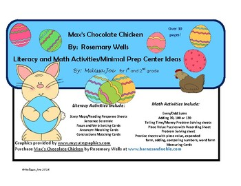 Max's Chocolate Chicken-Math and Literacy Centers and Activities