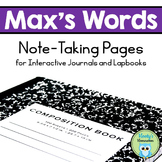 Max's Words - Interactive Journal