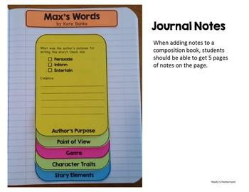 Max's Words - Interactive Journal