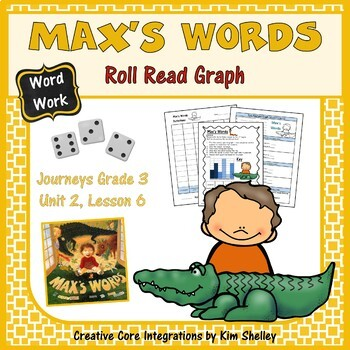 Max's Words - Roll Read and Graph Word Work