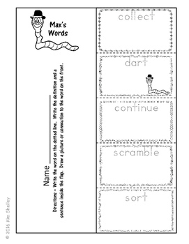 Max's Words - Vocabulary, Word Wall, Foldables