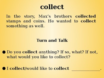 Max's Words by Banks & Kulikov Collaborative Conversation | Vocabulary