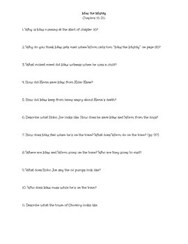 Max the Mighty Comprehension Questions Chapters 16-20