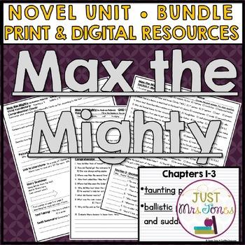 Max the Mighty Novel Unit