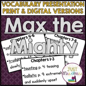 Max the Mighty Vocabulary Presentation