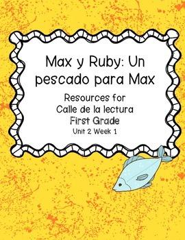 Max y Ruby: Un pescado para Max -Calle de la lectura- Unit 2 Week 1