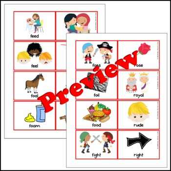 Maximal Contrast Pairs - R vs. F - Speech Therapy for Phonological Disorders