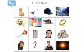 Maximal Contrast Phonology Bingo [k] - [r]