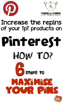 Pinterest & TpT: Maximise your Pins