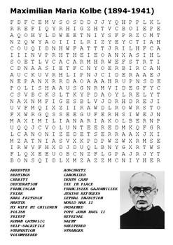 Maximilian Kolbe Word Search