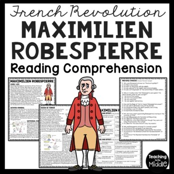 Maximilien Robespierre article & questions, French Revolution, European History
