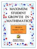 Maximum Student Growth in Mathematics:  6th Grade
