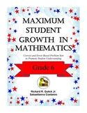 Maximum Student Growth in Mathematics: Grade 6
