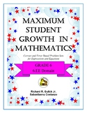 Maximum Student Growth in Mathematics: 6.EE Domain
