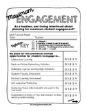 Maximum Engagement! A Teacher's Planning Form for Ensuring