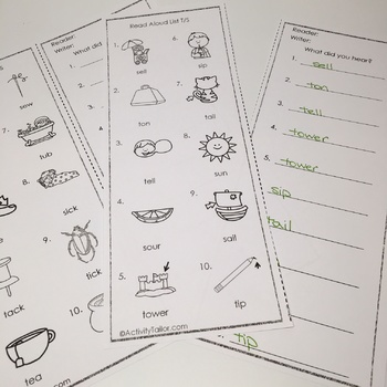 Minimal Pairs Activities for S and T FREEBIE!