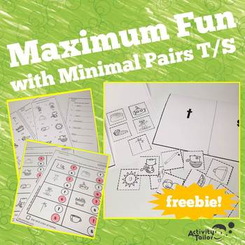Maximum Fun with Minimal Pairs S and T FREEBIE!