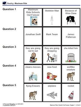 Maximum Ride Schools Out Forever comprehension quizzes