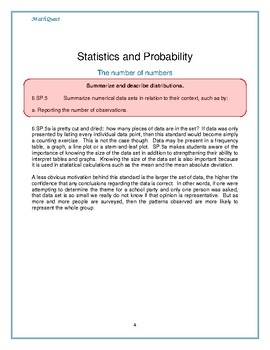 Maximum Student Growth in Math: 6.SP.B.5a
